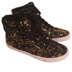 Supra Skytop High Top Sequin Sneakers 8.5